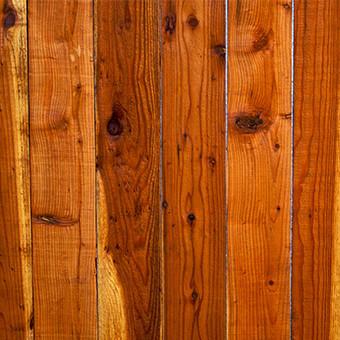 Redwood wood fence