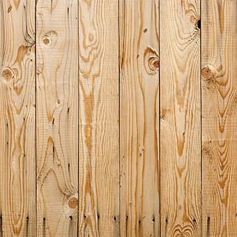 Spruce wood fence