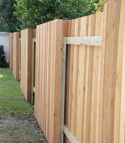 Wood Fence Vertical Planks